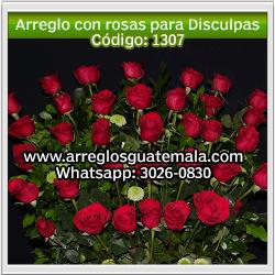 arreglos de rosas para pedir disculpas