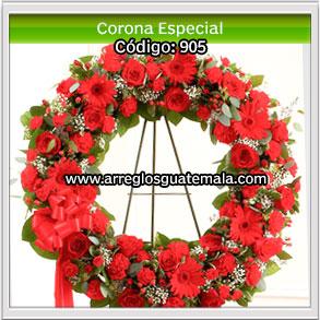 coronas de flores para funerales en guatemala