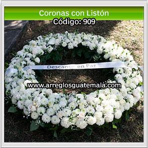 coronas de flores bellas para funerales en guatemala