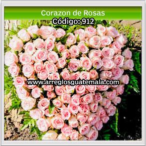 corazones de rosas para dar ultimo adios con rosas a seres amados que han fallecido