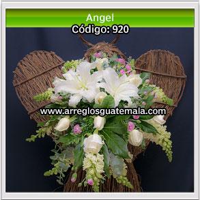 angel de flores para funerales
