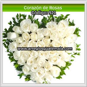 corazon de rosas para funerales