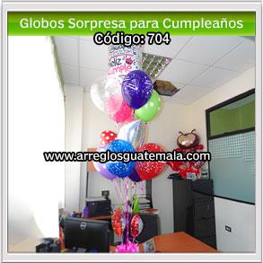 globos sorpresa para cumpleaños