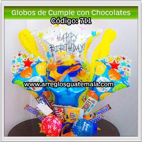 Globos con Chocolates para cumpleaños de persona especial