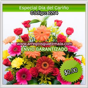envio de flores el dia del cariño en guatemala
