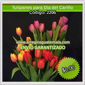 regalar tulipanes para dia del cariño en guatemala