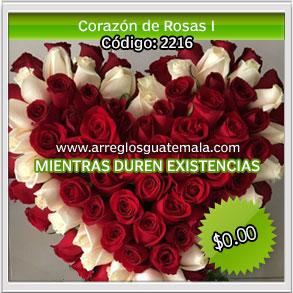 corazones de rosas para enviar el dia del cariño