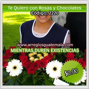i love you con rosas y chocolates