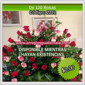 arreglos de mas de 100 rosas