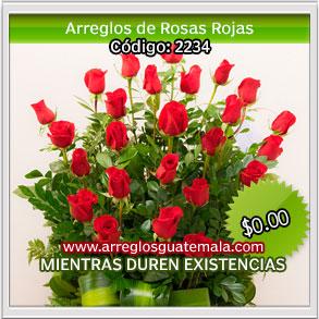 arreglos florales con rosas para dia del cariño