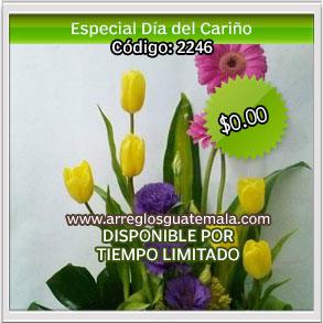 arreglos florales de tulipanes para dia del cariño