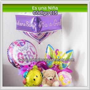 arreglos de globos envio para felicitar por nacimiento de una bebe