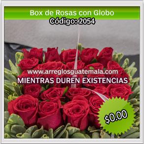 rosas con globos para dar sorpresa