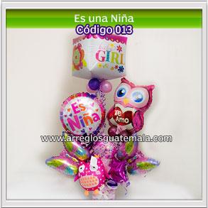 envio de globos para felicitar por nacimiento de una bebe