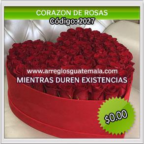corazones de rosas hermosas para enviar sorpresa a guatemala