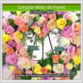 corazones bellos de flores en guatemala