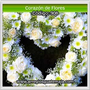 corazon de flores para poner sobre la persona que lamentablemente ha fallecido