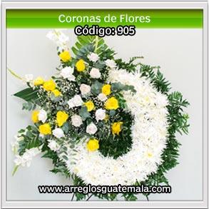 coronas fúnebres de luto para enviar a sepelio, domicilio, funeraria, velorio, o a cementerio