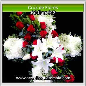 cruces de flores para enviar a funerales