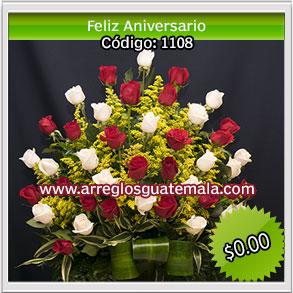 feliz aniversario con rosas