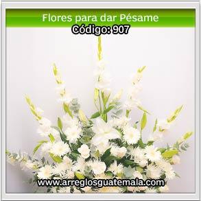 flores para dar pesame