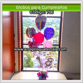 globos con número de años