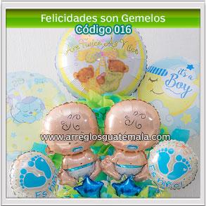 globos de nacimiento de gemelos