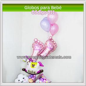 arreglos de globos para bebe que acaba de nacer