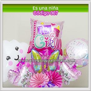 globos es una niña para felicitar por nacimiento de bebe