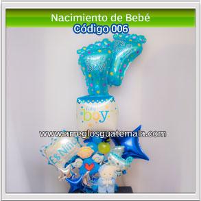arreglos de globos de recien nacido