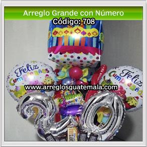 globos para cumpleaños con número de cumple