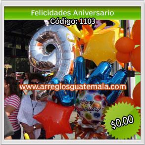 globos para felicitar por aniversario