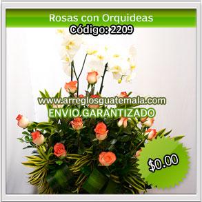 Rosas y Orquideas para Dia de las Madres