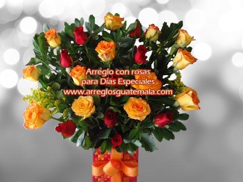 Arreglo de flores para el día del cariño