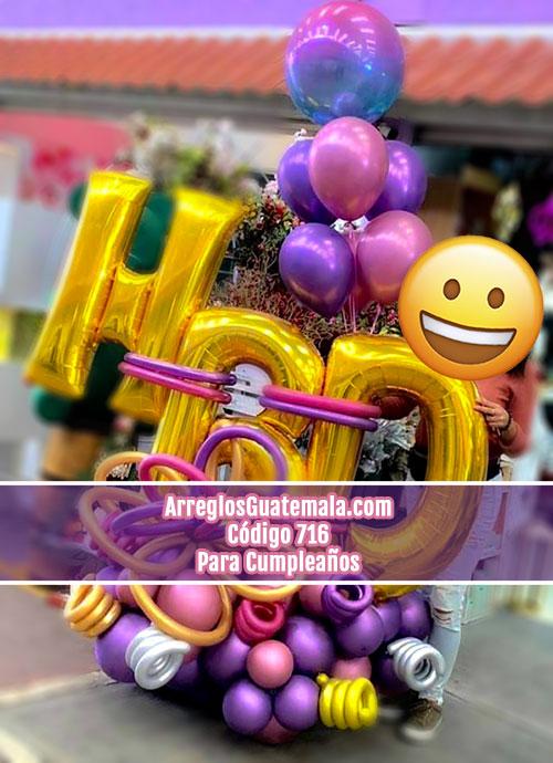arreglos de globos para sorpresas de cumpleaños