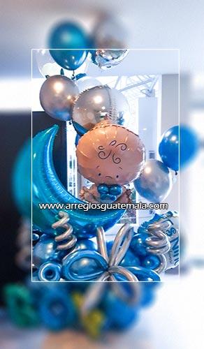arreglos de globos para bebes