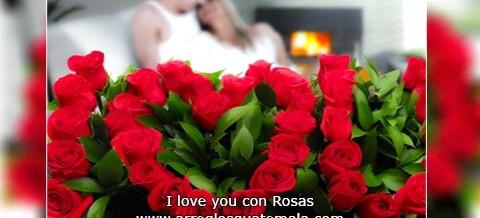 Arreglos de Rosas de i love you
