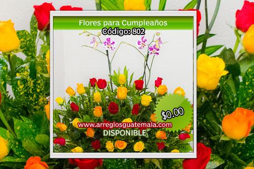 Envio de flores para cumpleaños a domicilio en Guatemala