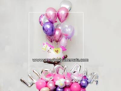 envio de globos bellos y grandes para felicitar por nacimiento de bebe
