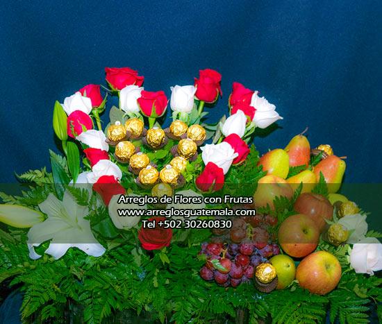 flores a domicilio en guatemala con frutas