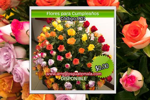 Envió de flores bellas para cumpleaños en Guatemala
