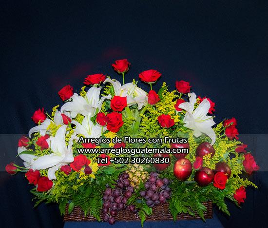flores con frutas a domicilio
